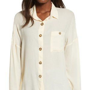 All in favor BNWOT button down cream blouse Large